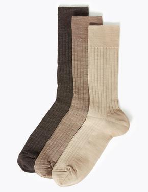 3'lü Yünlü Çorap Seti