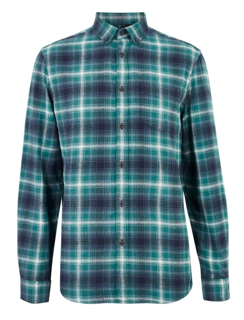 Erkek Yeşil Ekose Gömlek