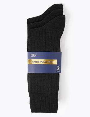 3'lü Yün Çorap Seti