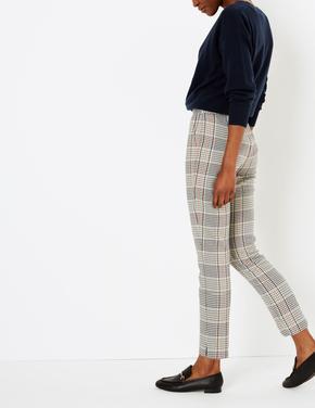 Ekose Slim Pantolon