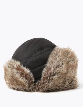 Suni Kürklü Trapper Şapka