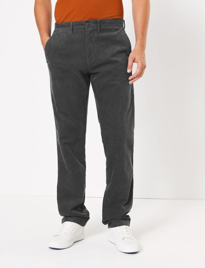 Regular Fit Kadife Pantolon