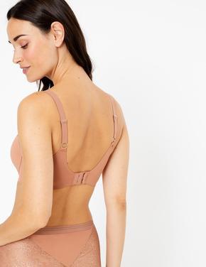 Kadın Kahverengi Body™ Full Cup Simli T-Shirt Sütyeni
