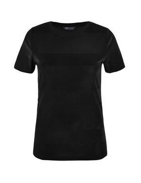 Kadife Dokulu T-Shirt
