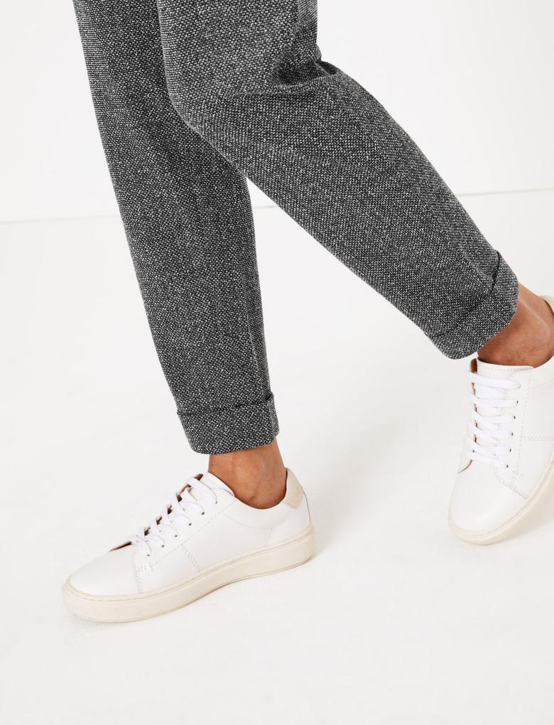Siyah Tapered Leg Pantolon