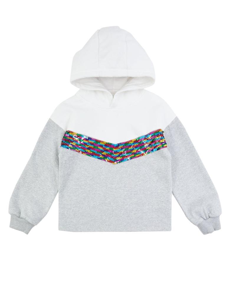 Pullu Kapüşonlu Sweatshirt