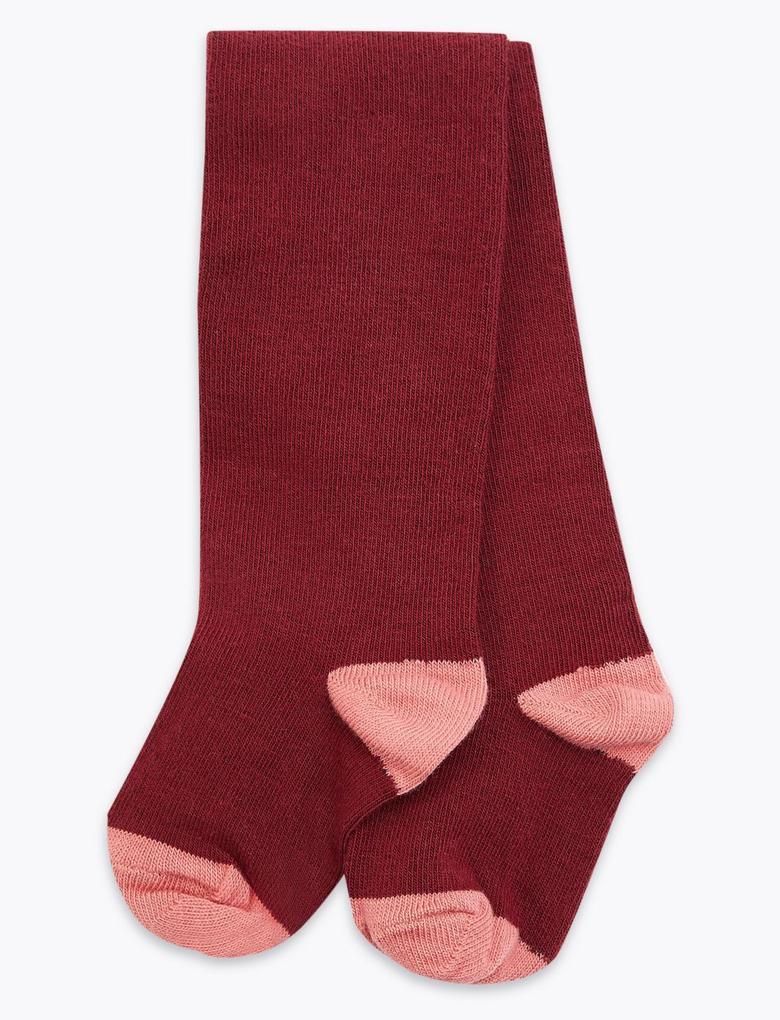 Puantiye Desenli Elbise ve Çorap Takımı