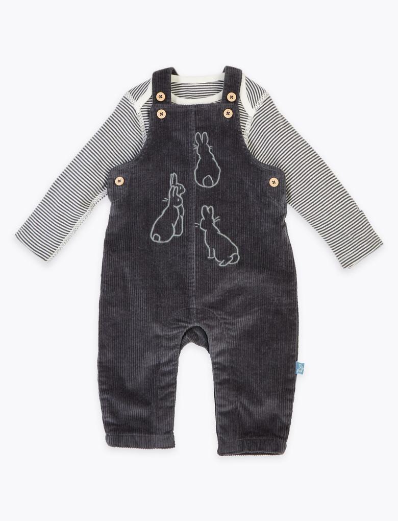 Bebek Gri 2 Parça Peter Rabbit™ Tulum Seti