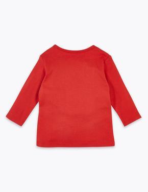 Yılbaşı Temalı Uzun Kollu T-Shirt
