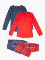 2'li Desenli Pijama Seti