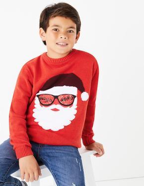 Noel Baba Desenli Kazak