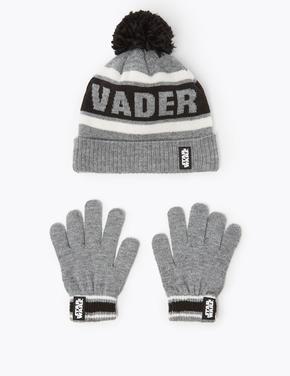 Erkek Çocuk Gri Star Wars™ Şapka ve Eldiven Takımı