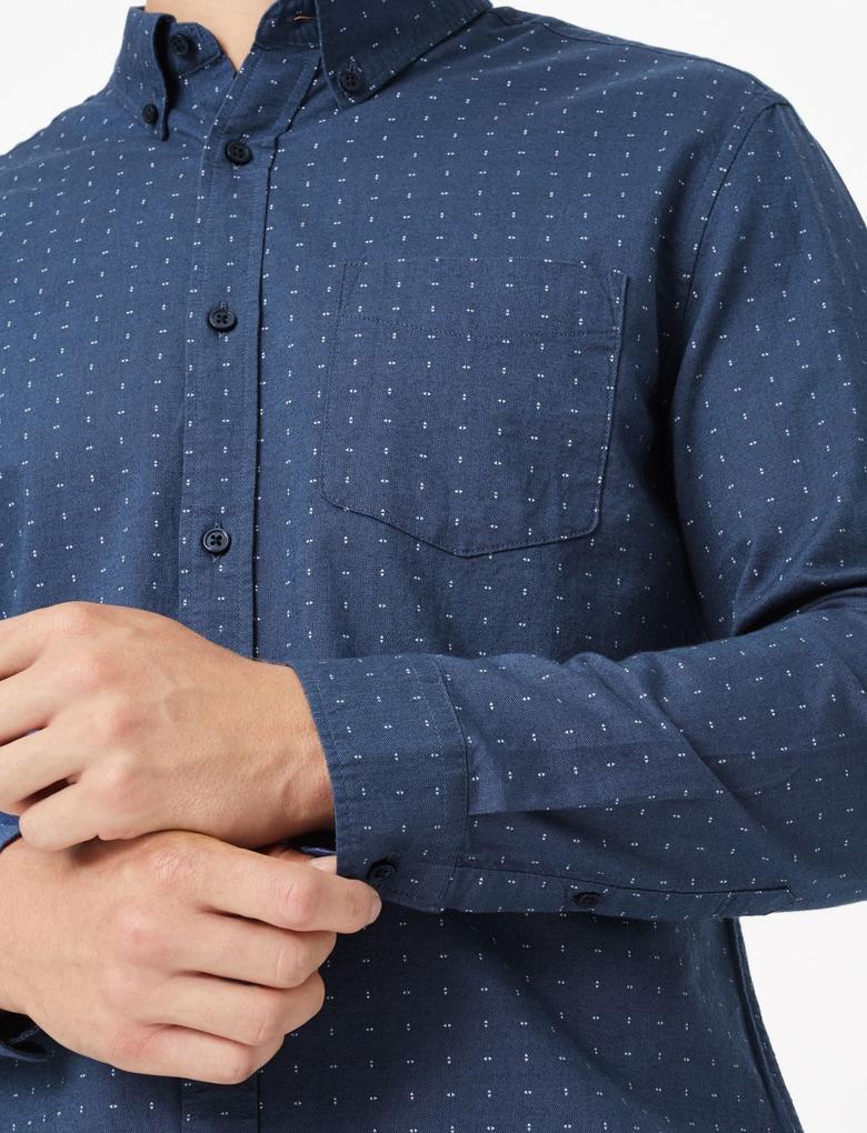 Saf Pamuklu Regular Fit Oxford Gömlek