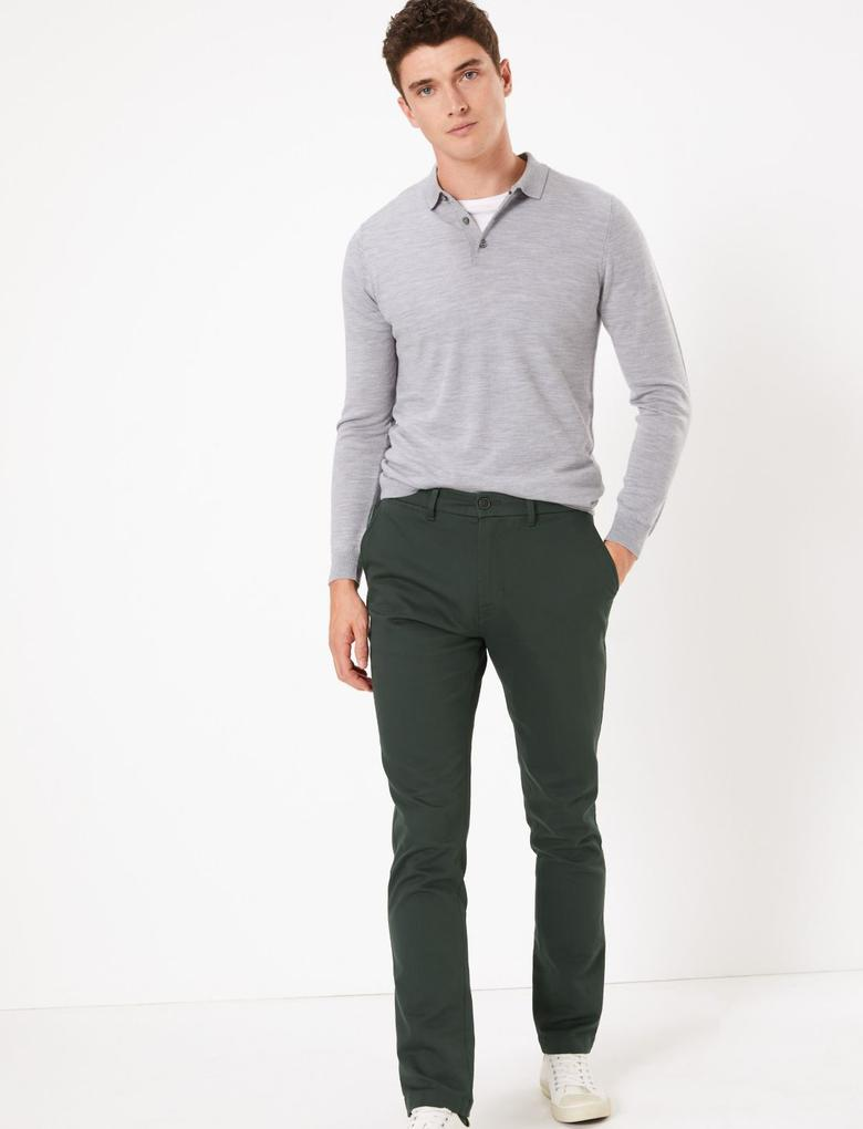 İtalyan Slim Fit Chino Pantolon