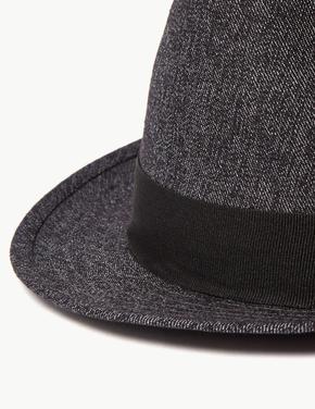 Dokulu Fötr Şapka