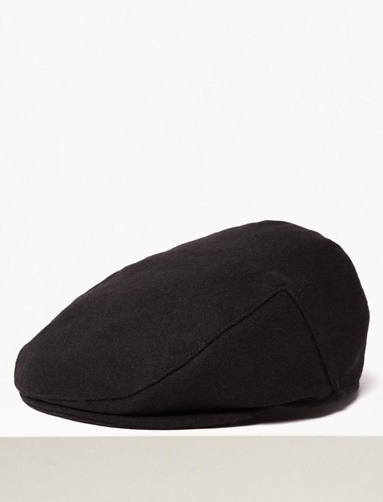 Erkek Gri Yün Şapka