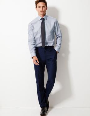 Erkek Gri Kolay Ütülenir Tailored Fit Gömlek