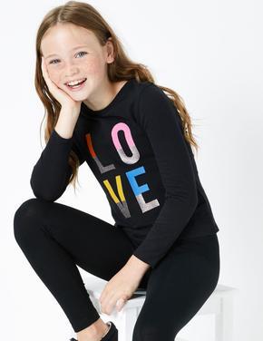 Love Sloganlı T-Shirt