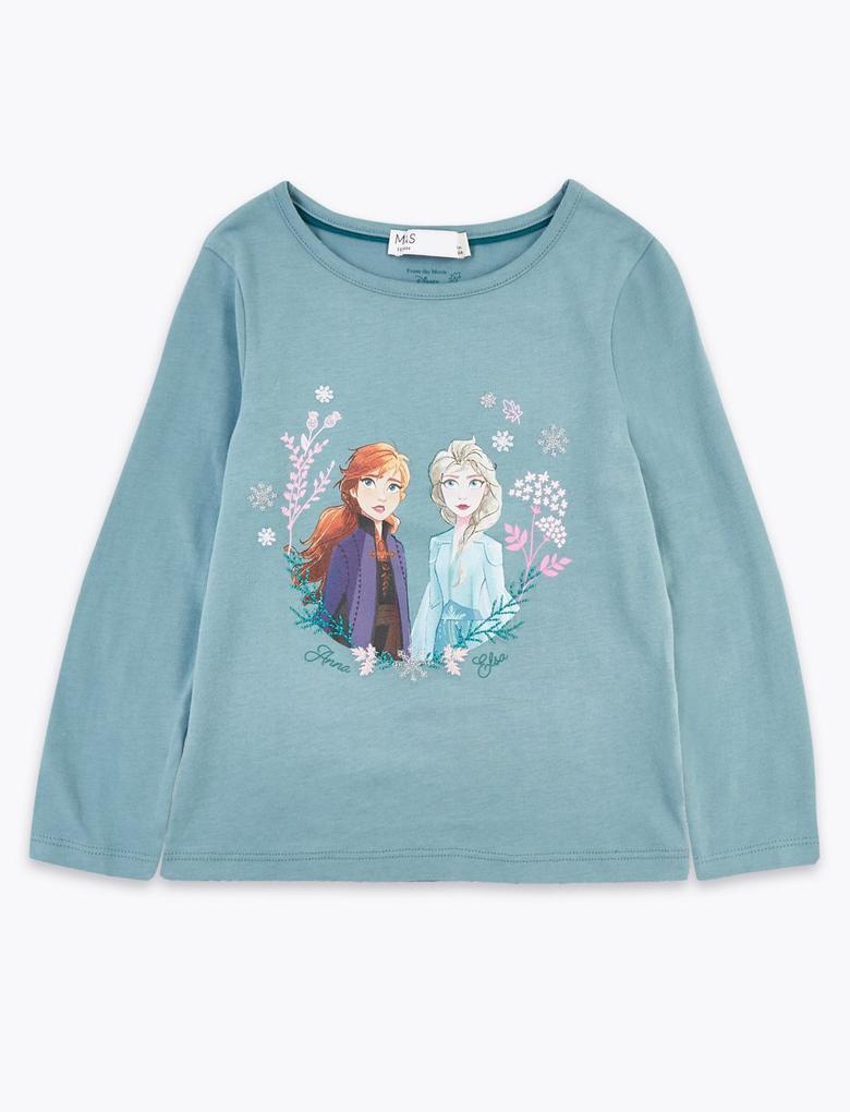Mavi Disney Frozen™ Uzun Kollu T-Shirt
