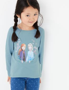 Kız Çocuk Mavi Disney Frozen™ Uzun Kollu T-Shirt