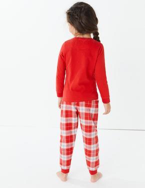 Ren Geyiği Desenli Pijama Takımı