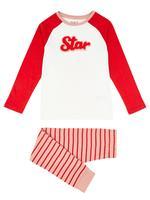 2'li Star Sloganlı Pijama Takımı