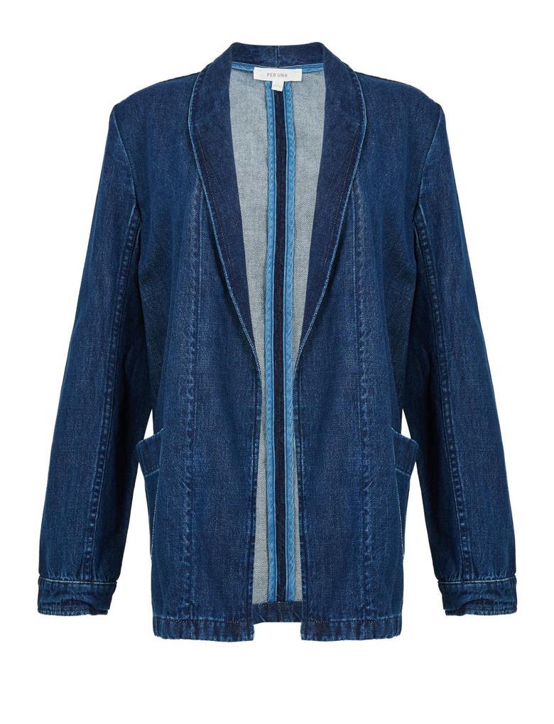 Lacivert Denim Kimono Ceket