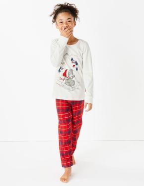 Tatty Teddy™ Ekose Pijama Takımı