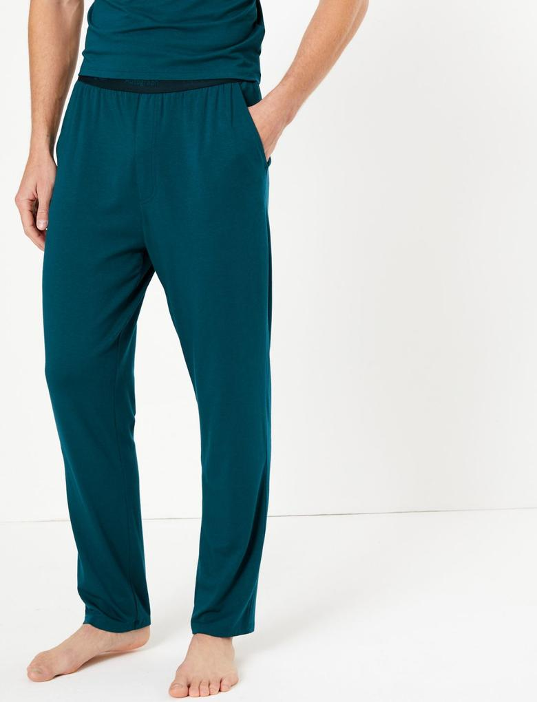 Erkek Yeşil Luxury Supersoft Supima® Pijama Altı