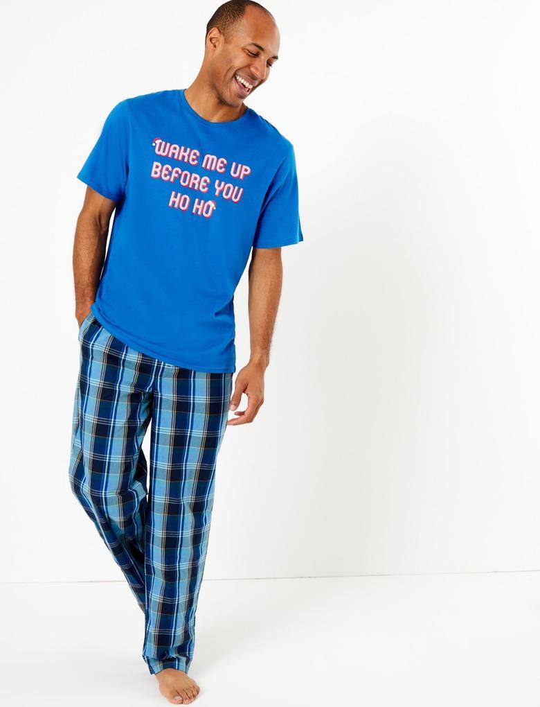 Sloganlı Pijama Üstü