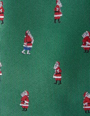 Noel Baba Desenli Slim Kravat