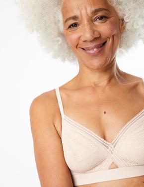 Kadın Bej Body™ Dantelli Balensiz Sütyen