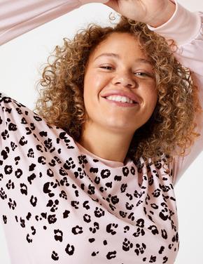 Kadın Pembe Desenli Pijama Takımı