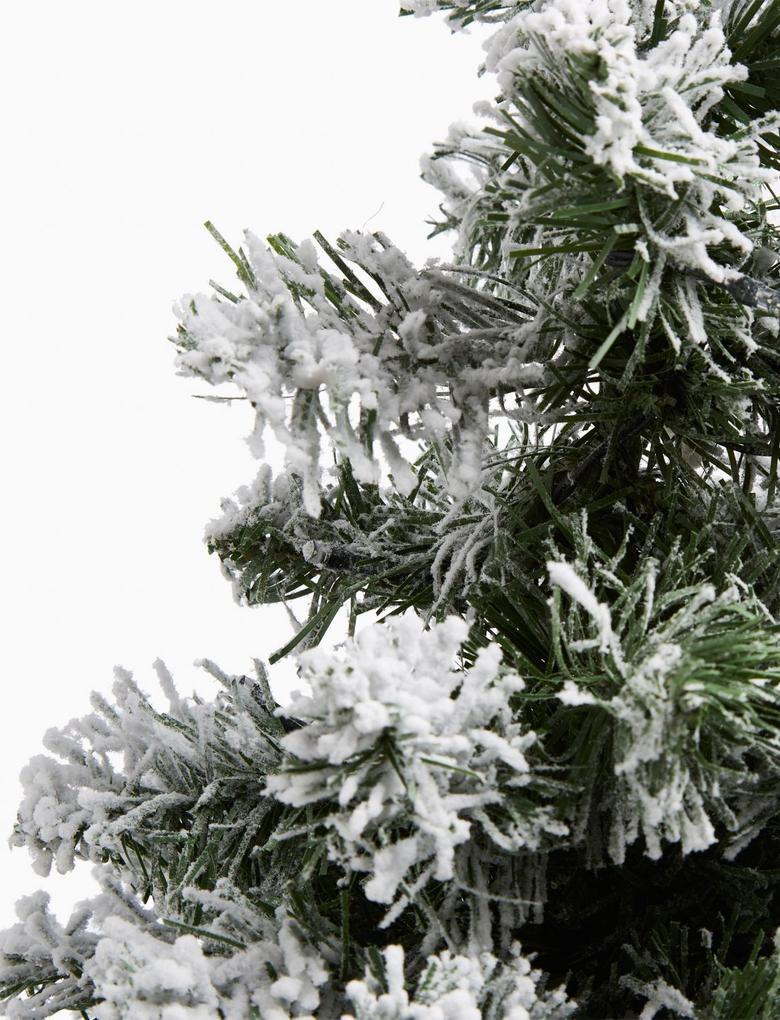 Beyaz 45 cm Işıklı ve Karlı Çam Ağacı