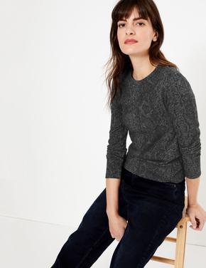 Kadın Siyah Desenli Pırıltılı Sweatshirt