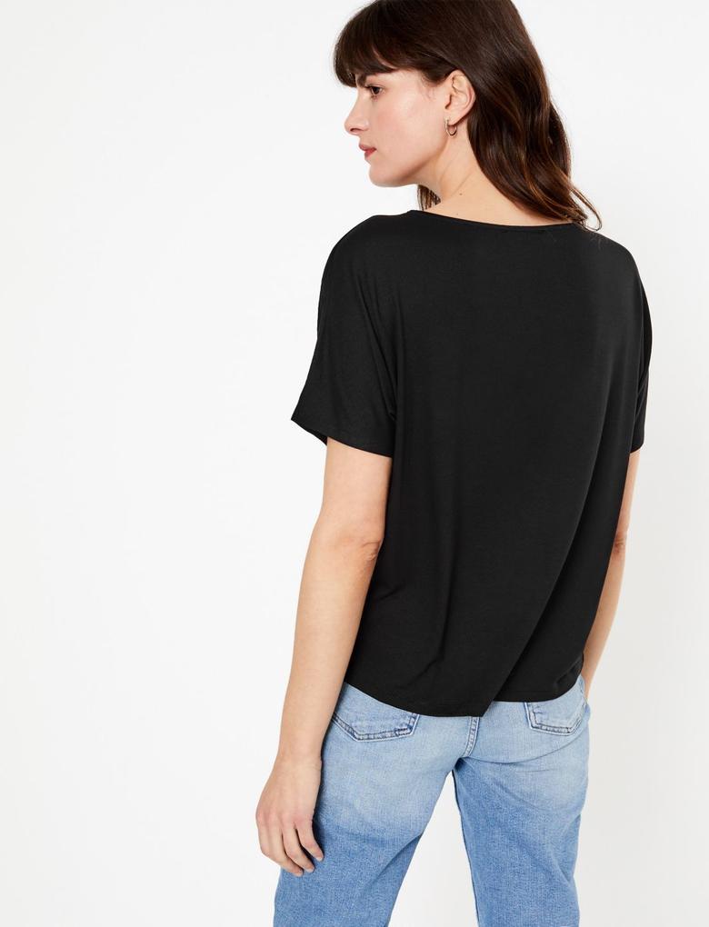 Jakarlı Straight Fit Bluz