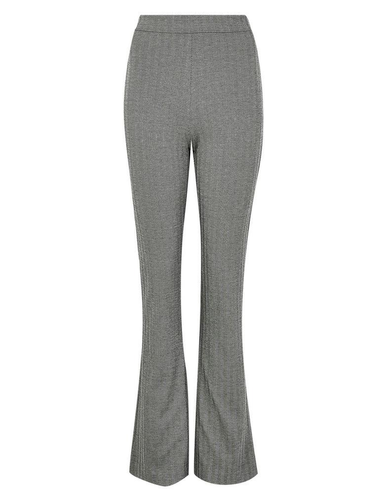 Kadın Siyah Desenli Bootcut Pantolon