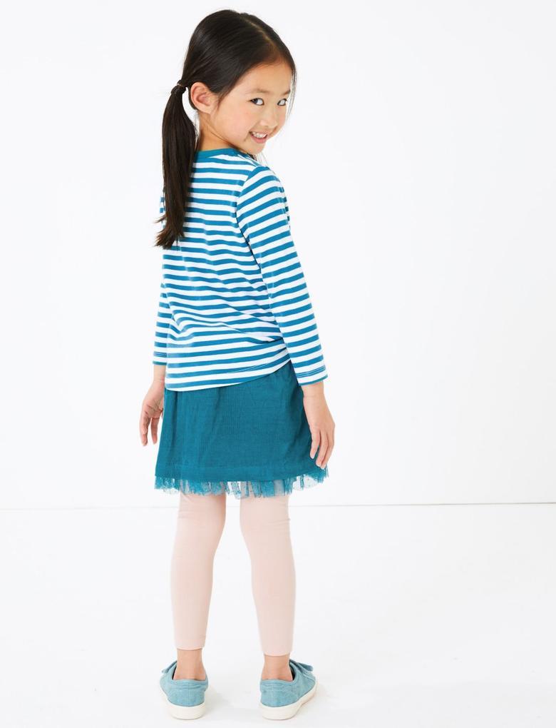 Kız Çocuk Multi Renk 5'li Uzun Kollu T-Shirt Seti