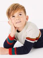 Erkek Çocuk Multi Renk Şeritli Kazak
