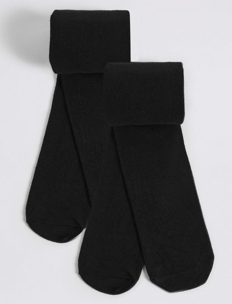2'li Yünlü Freshfeet™ Termal Külotlu Çorap (5 - 14 Yaş)
