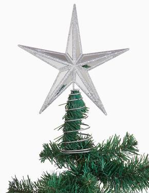 Gümüş Yıldız Şeklinde Çam Ağacı Süsü
