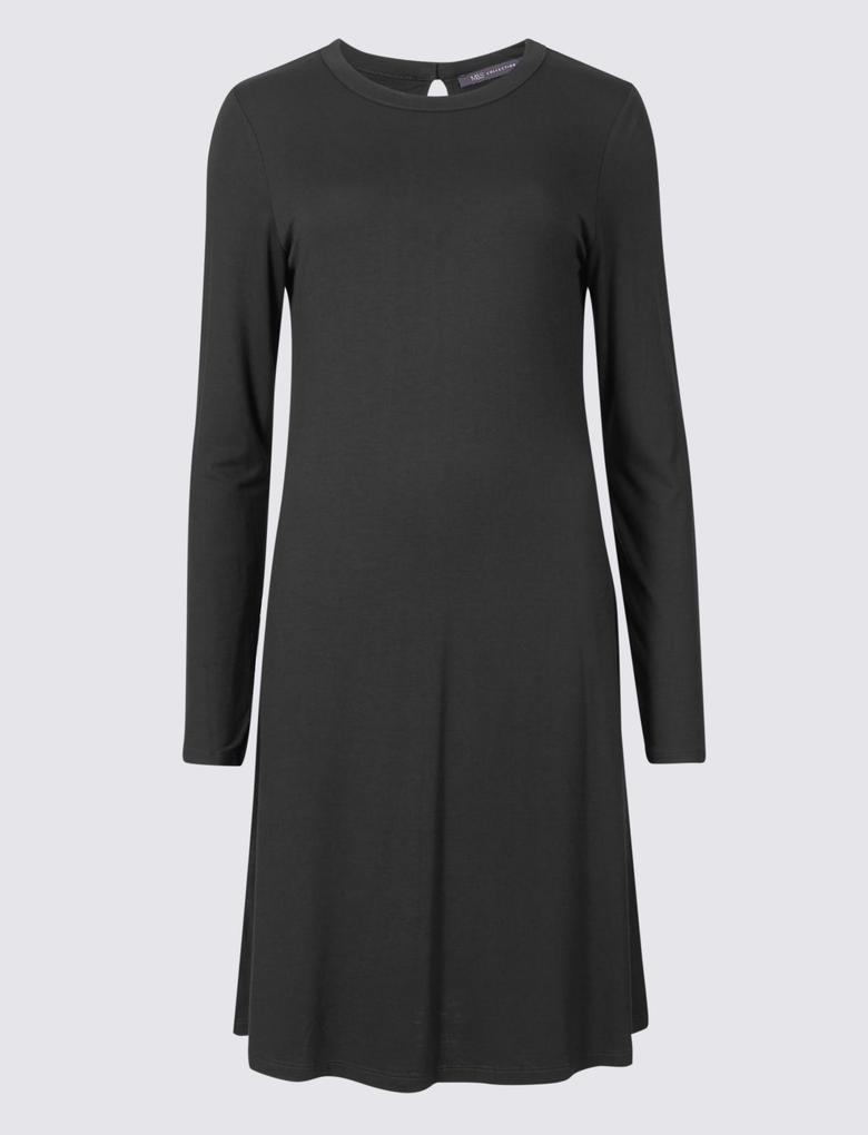 Siyah Jarse Elbise