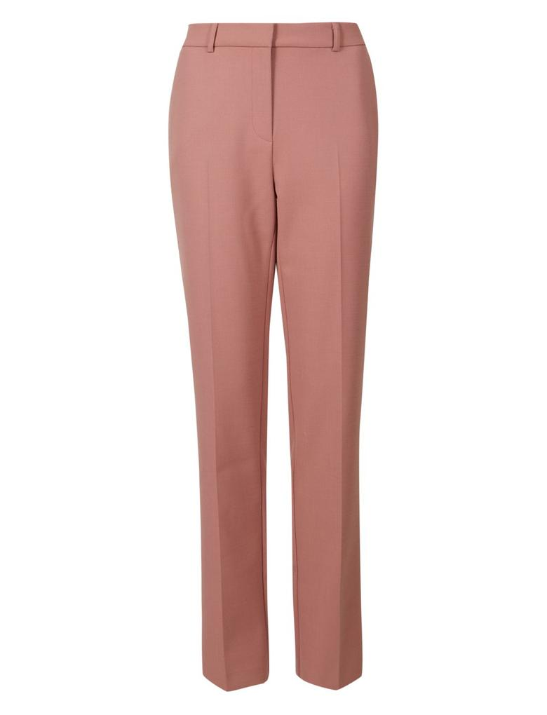 Kadın Pembe Straight Leg Yünlü Pantolon