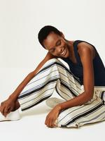 Kadın Lacivert Özel Dokulu Kolsuz Bluz