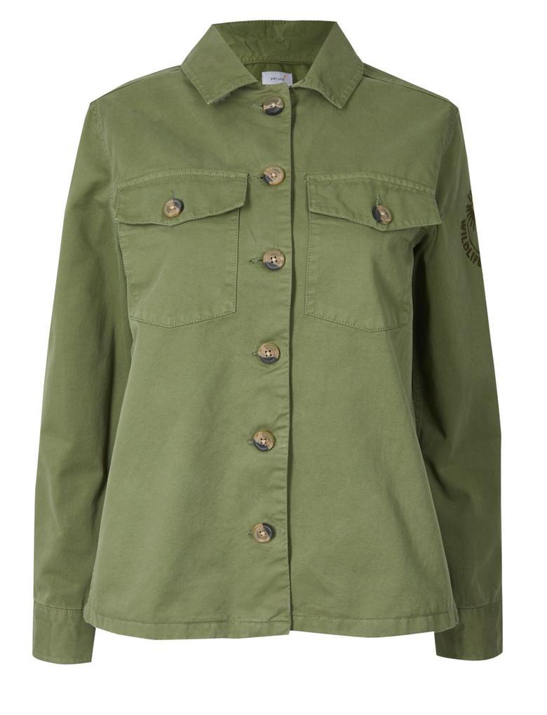 Kadın Yeşil Military İnce Ceket