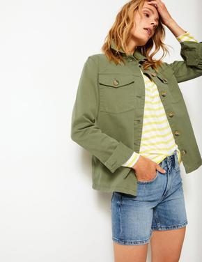 Yeşil Military İnce Ceket