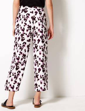 Crepe Wide Leg Pantolon