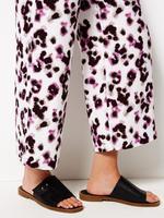 Kadın Krem Crepe Wide Leg Pantolon