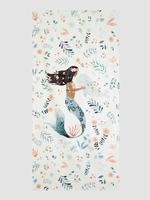 Deniz Kızı Desenli Banyo Havlusu