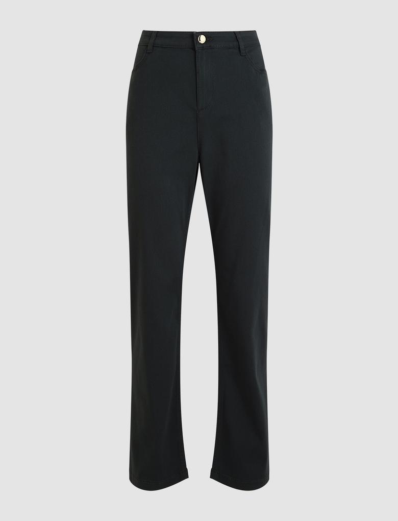 Kadın Yeşil Straight Leg Pantolon
